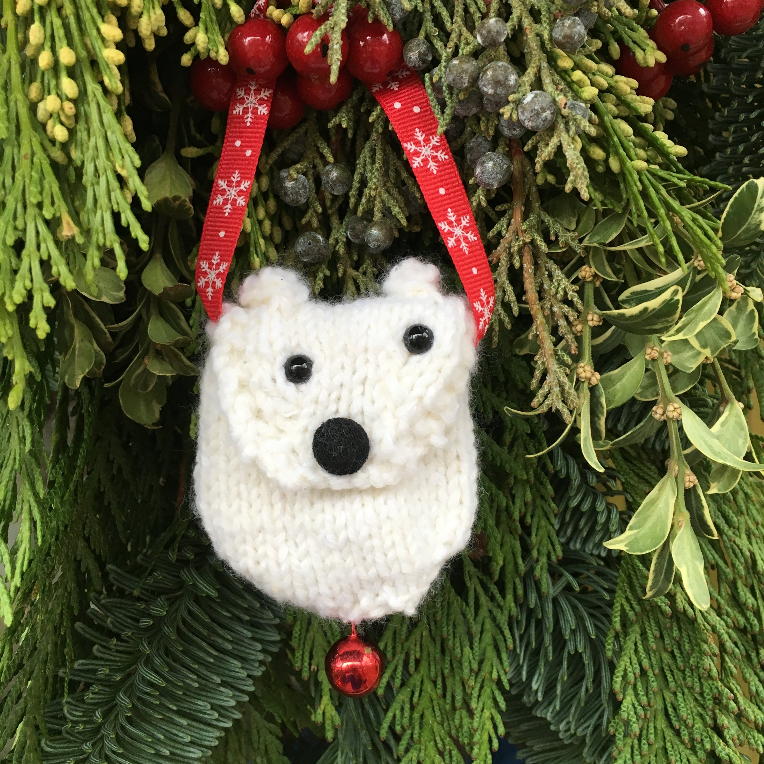 """Polar Bear Pouch"" by Fuzzy Mitten's"