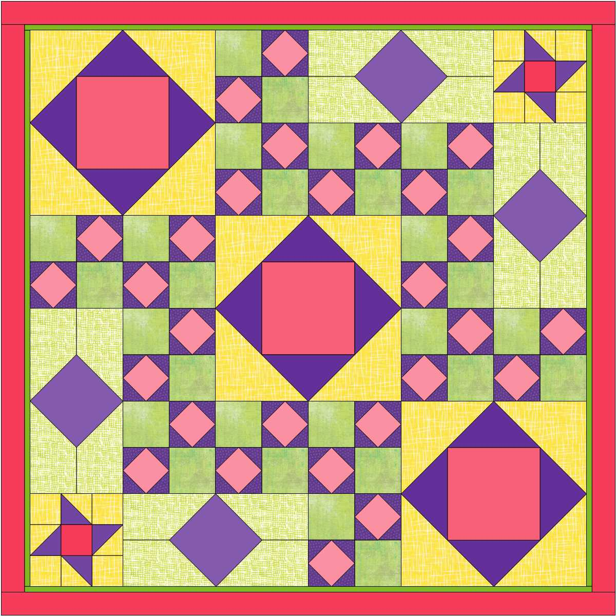 "My Practice Quilt from Electric Quilt Blog tutorial ""Custom Set Quilt!"""
