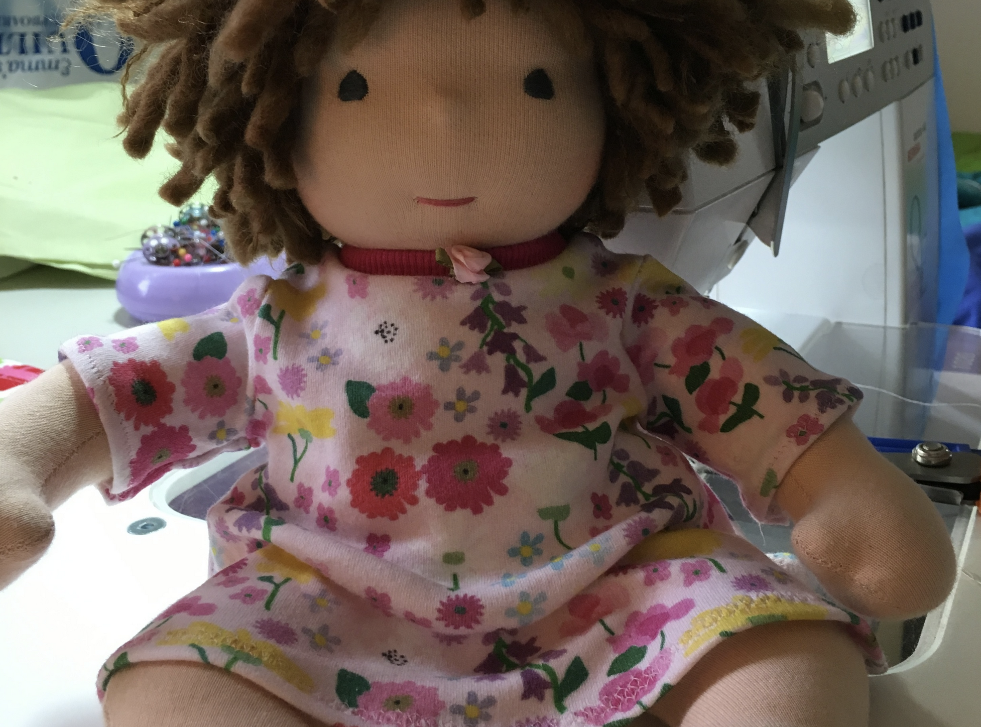 Learning to Draft Doll Clothes:  Dress for a Bamboletta Baby Doll