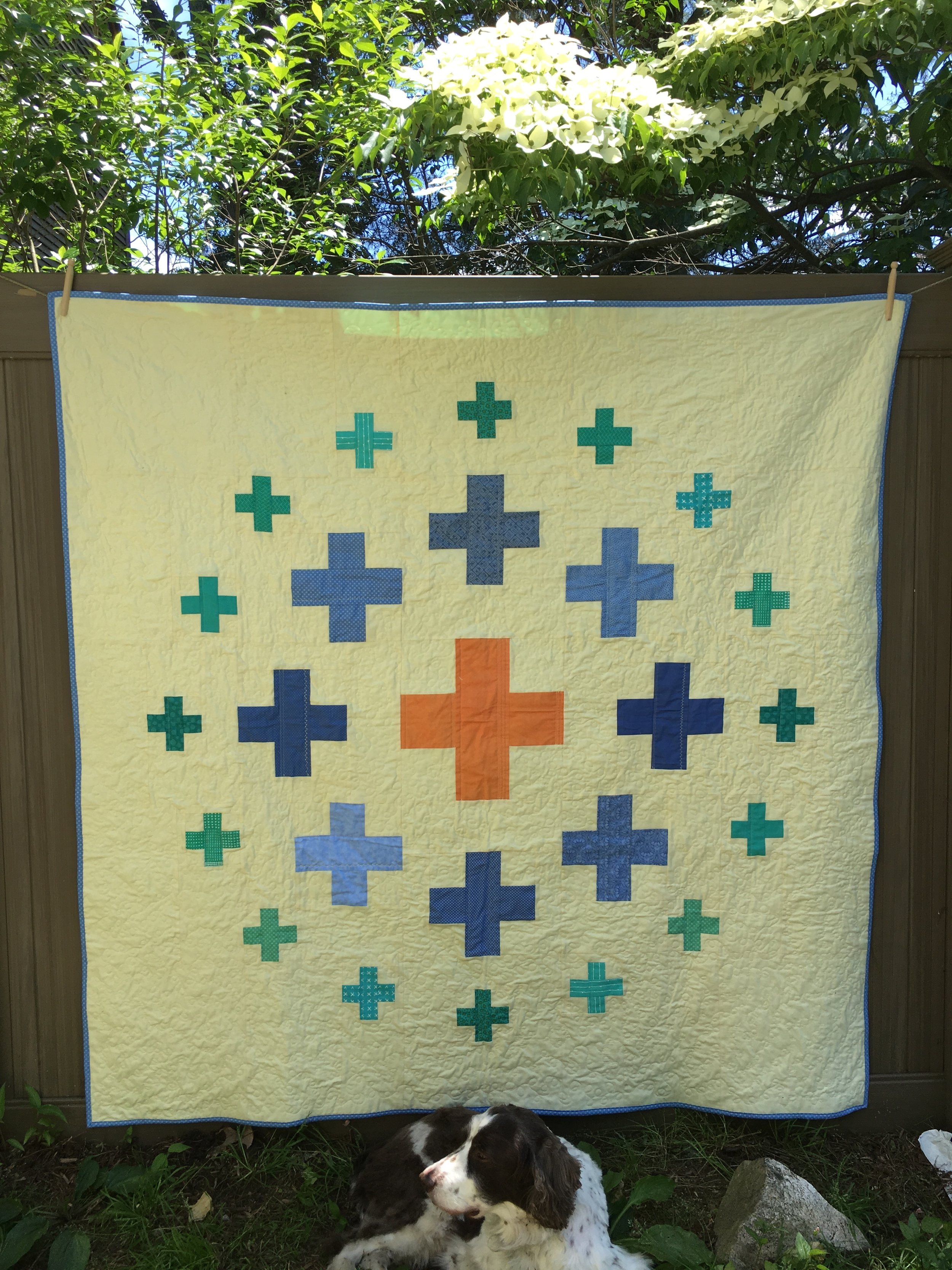 Here's a photo of the quilt before washing.