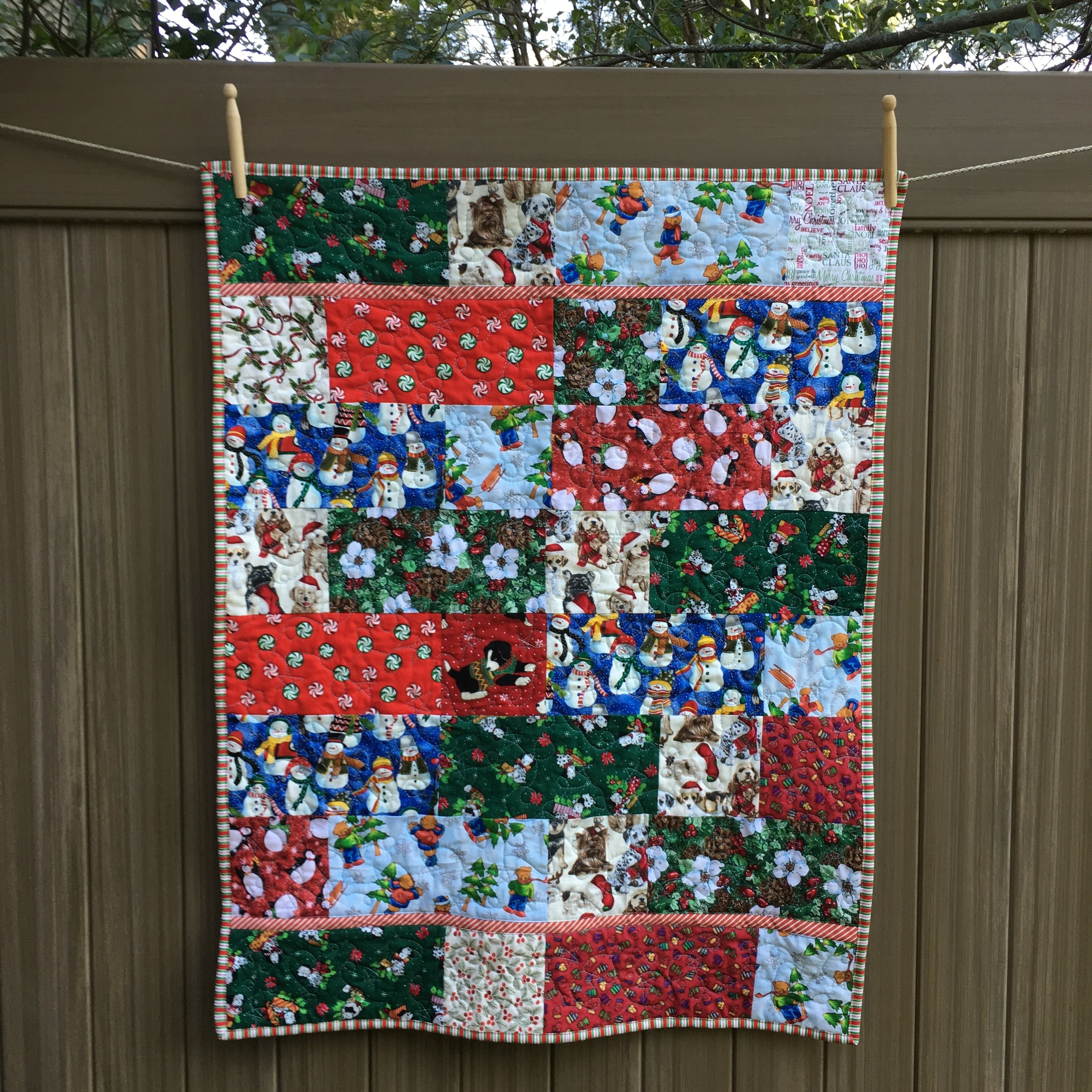 Bricks and Squares Quilt  28 x 36 inches