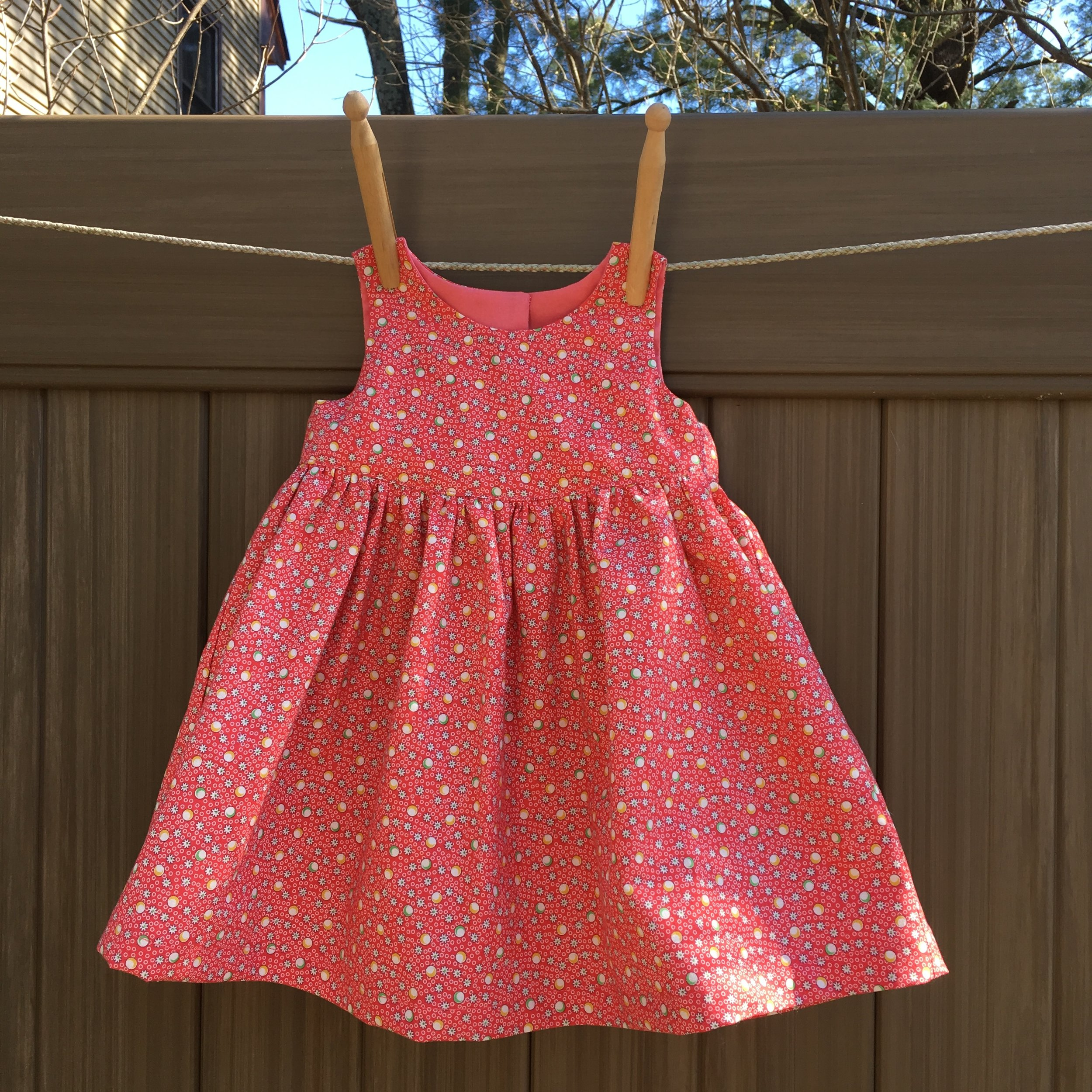 Baby Dress, Size Small (13-18 lbs), NEWLOOK 6568