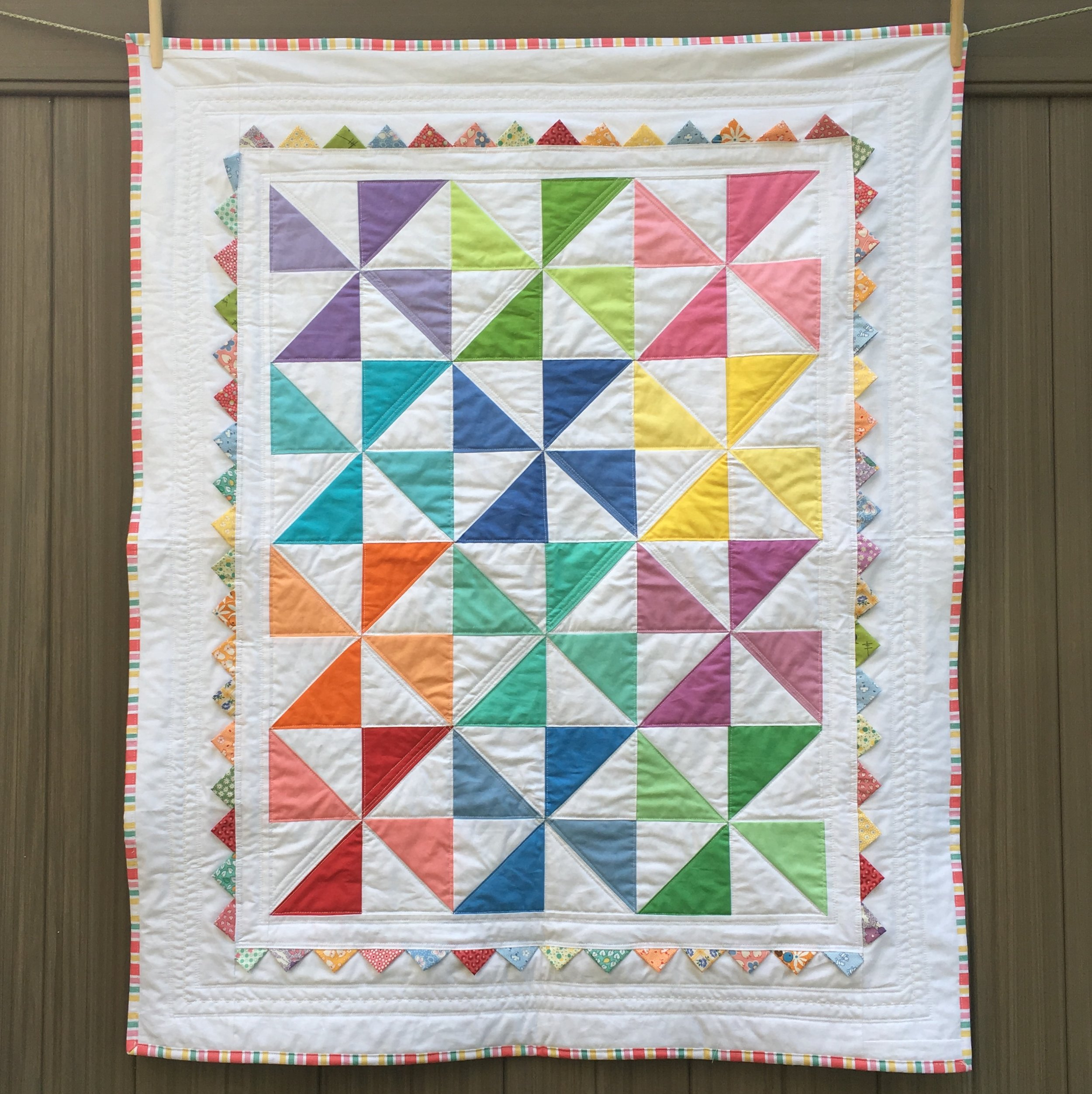 """Pinwheel Baby Quilt"" by Jodi for Moda Bake Shop, 36 x 44 inches"
