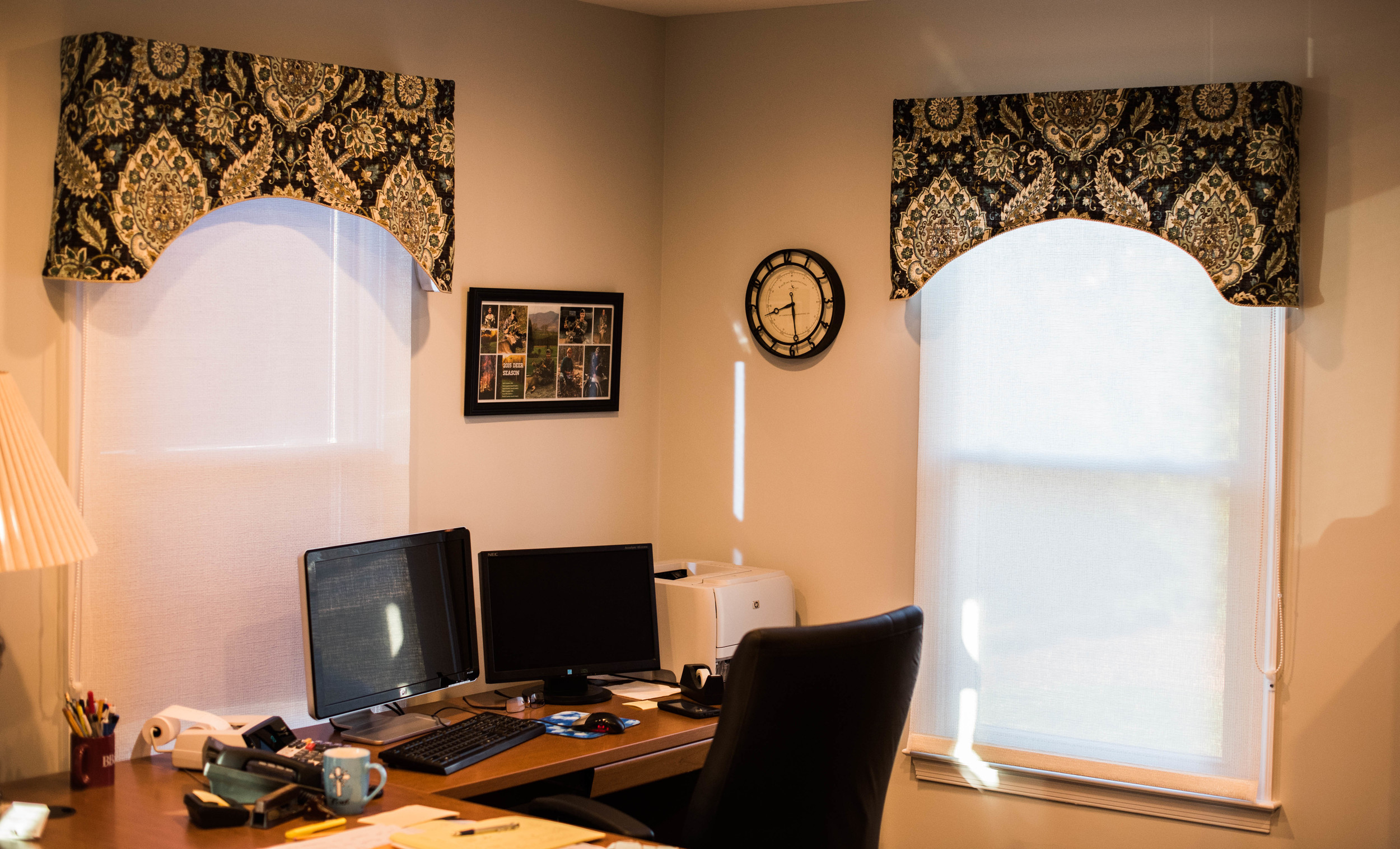 Custom Valances, Arch Valances, Office Valance, Window Toppers, Window Treatment, Made to Order Valance