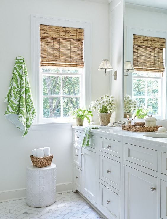 Bathroom Bamboo Shade