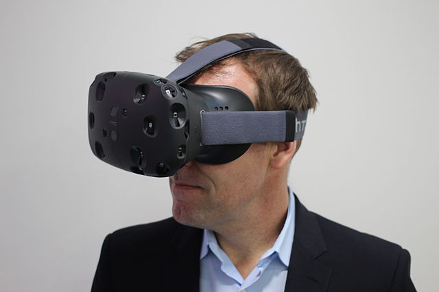 HTC Vive Virtual Reality headset. Photo by Maurizio Pesce CC BY 2.0