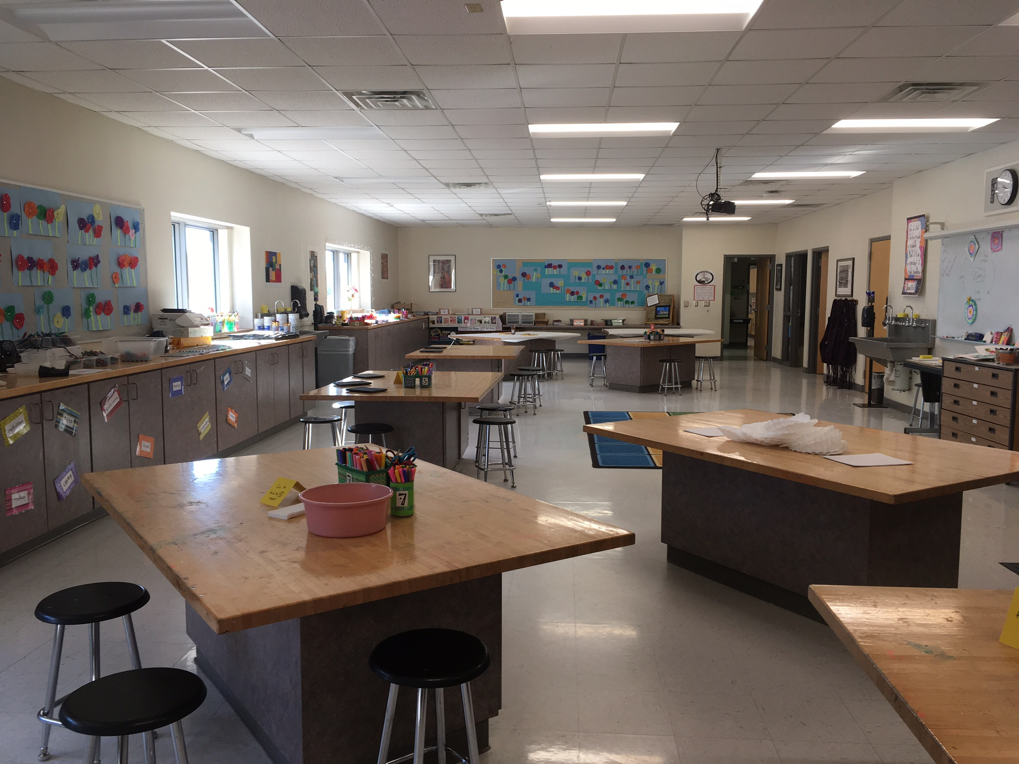 This is the Unity Elementary Art Room