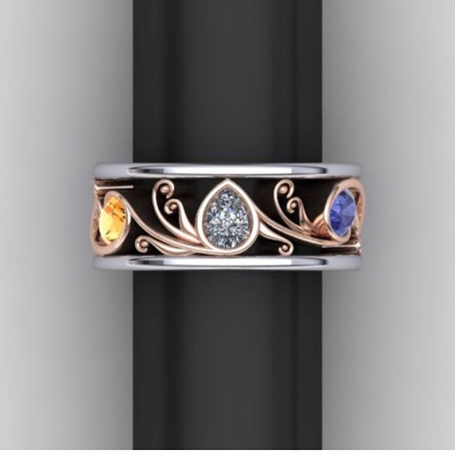 Working on a special project! 🤗  Do you like yellow gold, white gold or rose & white gold? Let me know!  #rosegold #whitegold #yellowgold #customjeweler #eternitybands #righthandring #rogersandco #rogersandcofinejewelry #missoula