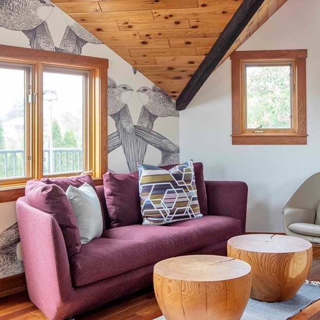 A fun detail of the loft lounge captured by the wonderfully talented Janis Nicolay at our recent project shoot in Naramata! Check out all of the photos on our FB page. 📸 @pineconecamp