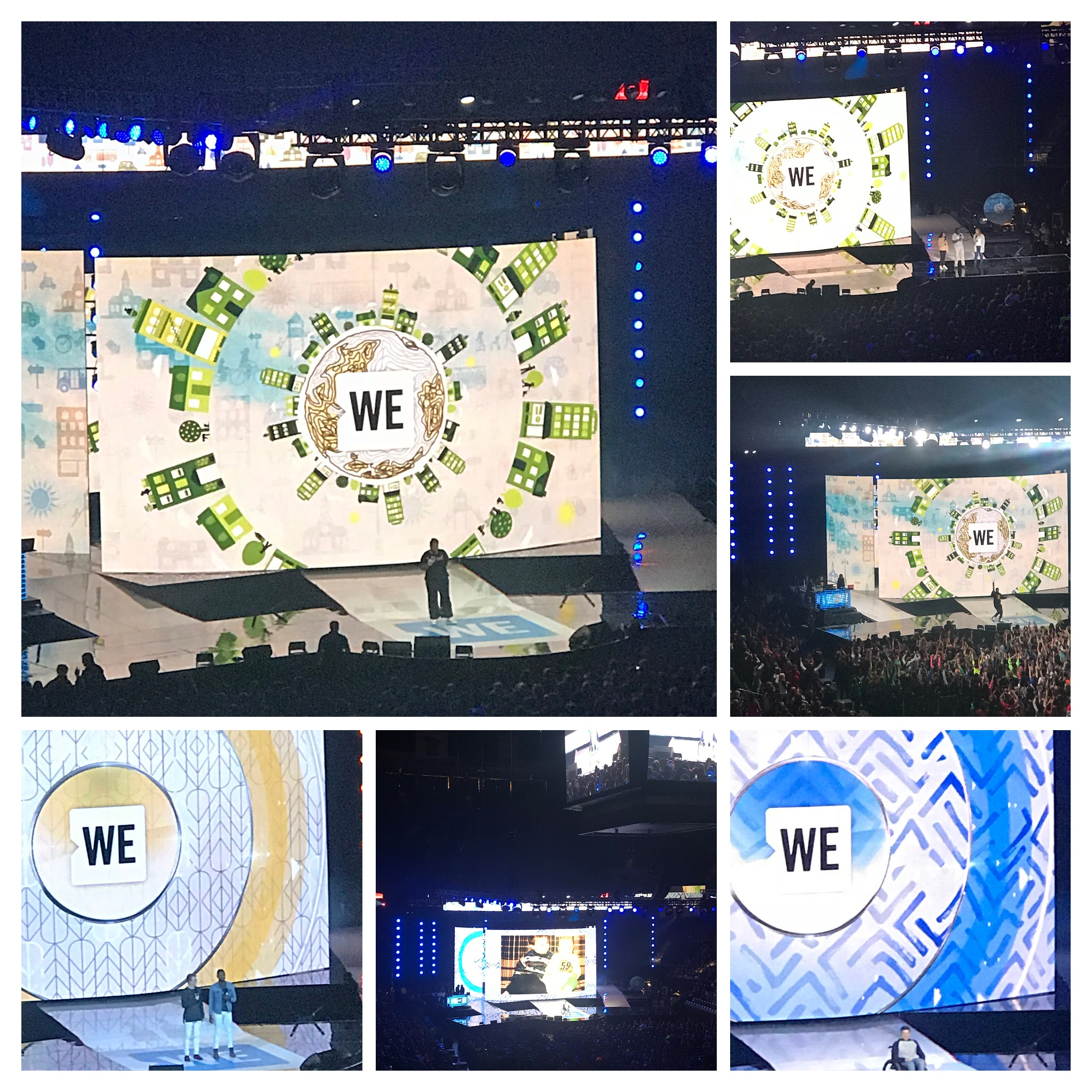 The big stage and all the celebrities and storytellers from WE Day MN 2017.