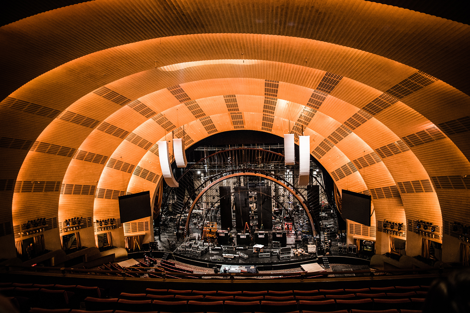 Set-up for 'America's Got Talent' at Radio City Music Hall