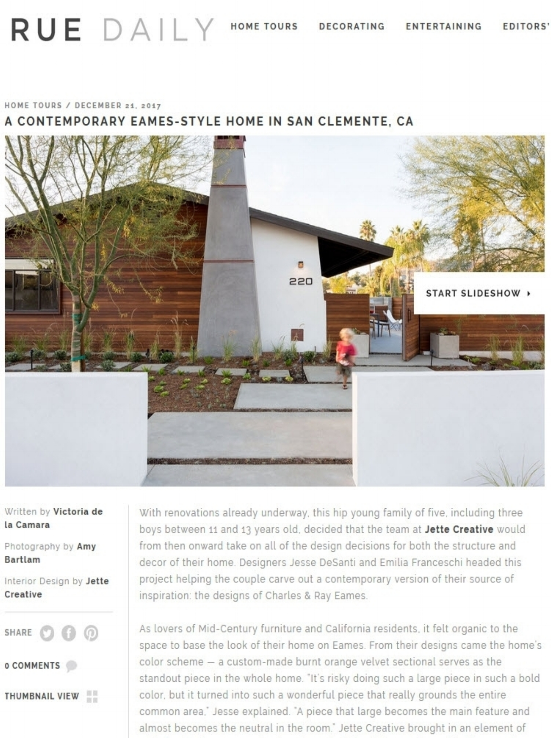 Rue Daily Feature. Link to publication imagery