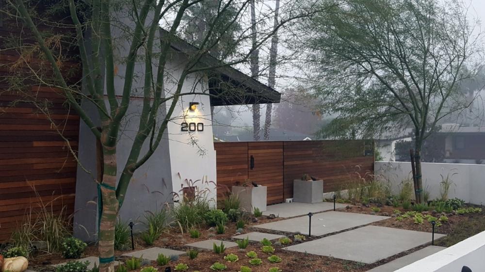 Mid Century Modern Living Gardens