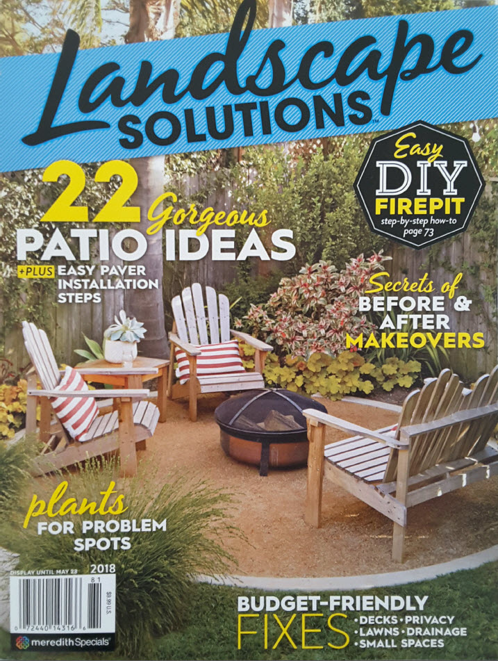 Our Green Wall Design featured in Landscape Solutions    magazine.