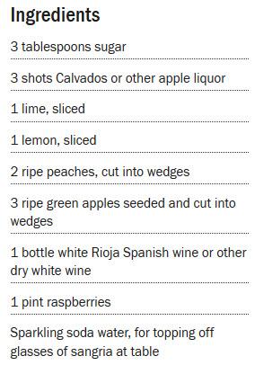 White Sangria Recipe - courtesy of www.foodnetwork.com/recipes/rachael-ray/white-sangria-recipe-1940539