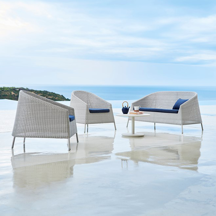 NEW Kingston White Lounge Collection   A pristine example of superior craftsmanship,   Click to shop this collection .   Pair with Breeze Dining Collection.