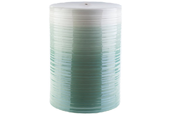 Wave ceramic stool