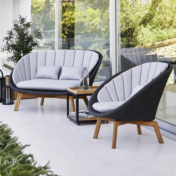 NEW Peacock Lounge Collection   Beautiful visual furniture with high comfort.   Click to shop this collection.    Dining collection also available.