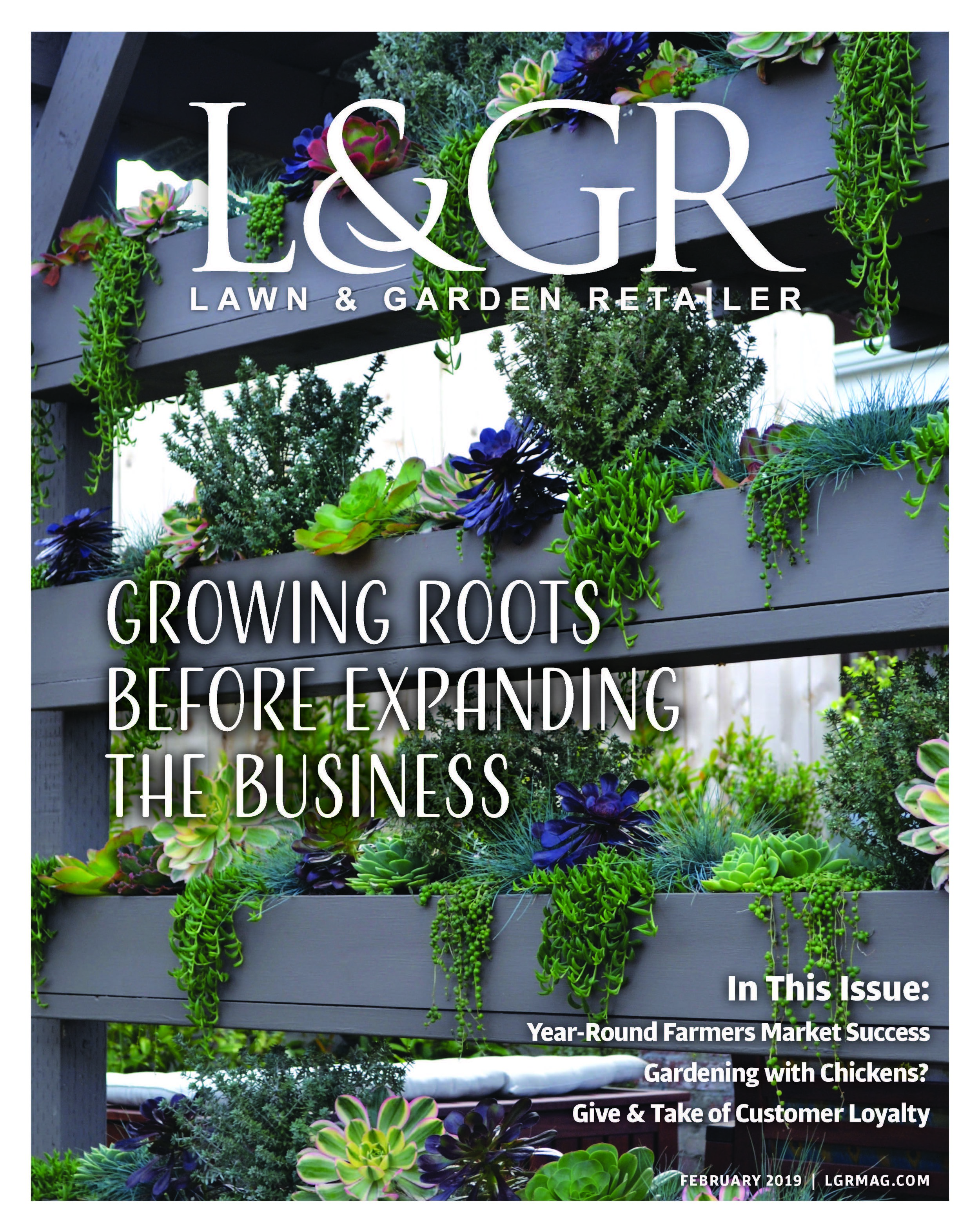 Lawn and Garden Retailer Magazine. Link to publication imagery