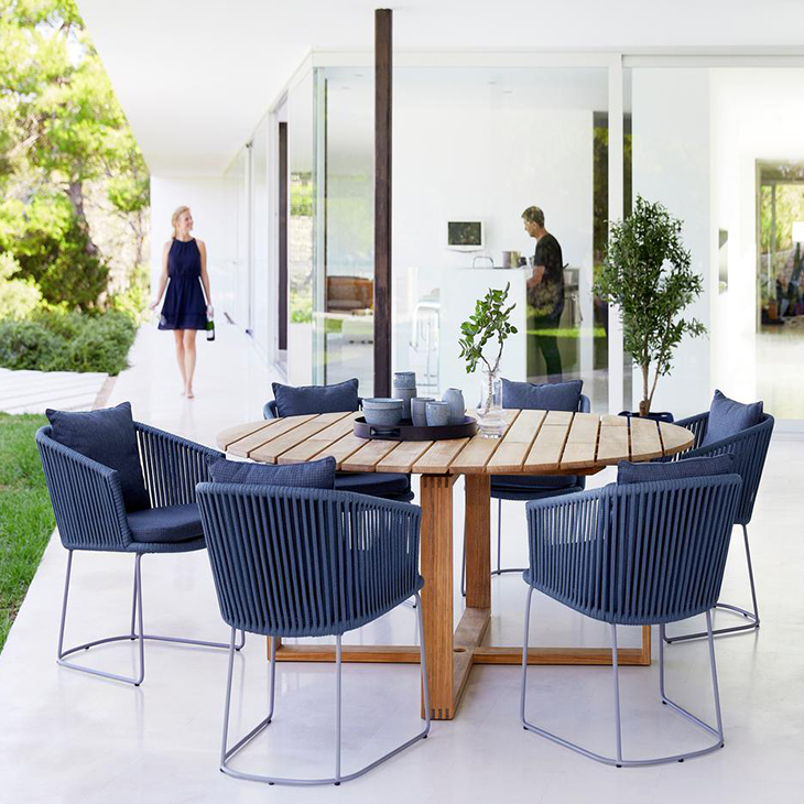 NEW Moments DIning Collection in Blue   Transparent and minimalistic design   Click to shop this collection.    Also available in Grey.