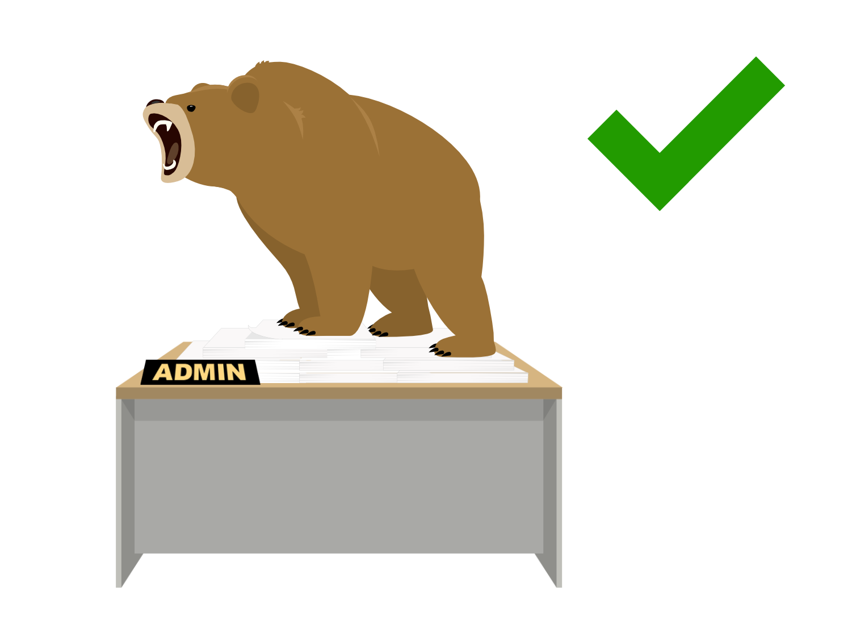 Admin bear was a roaring success