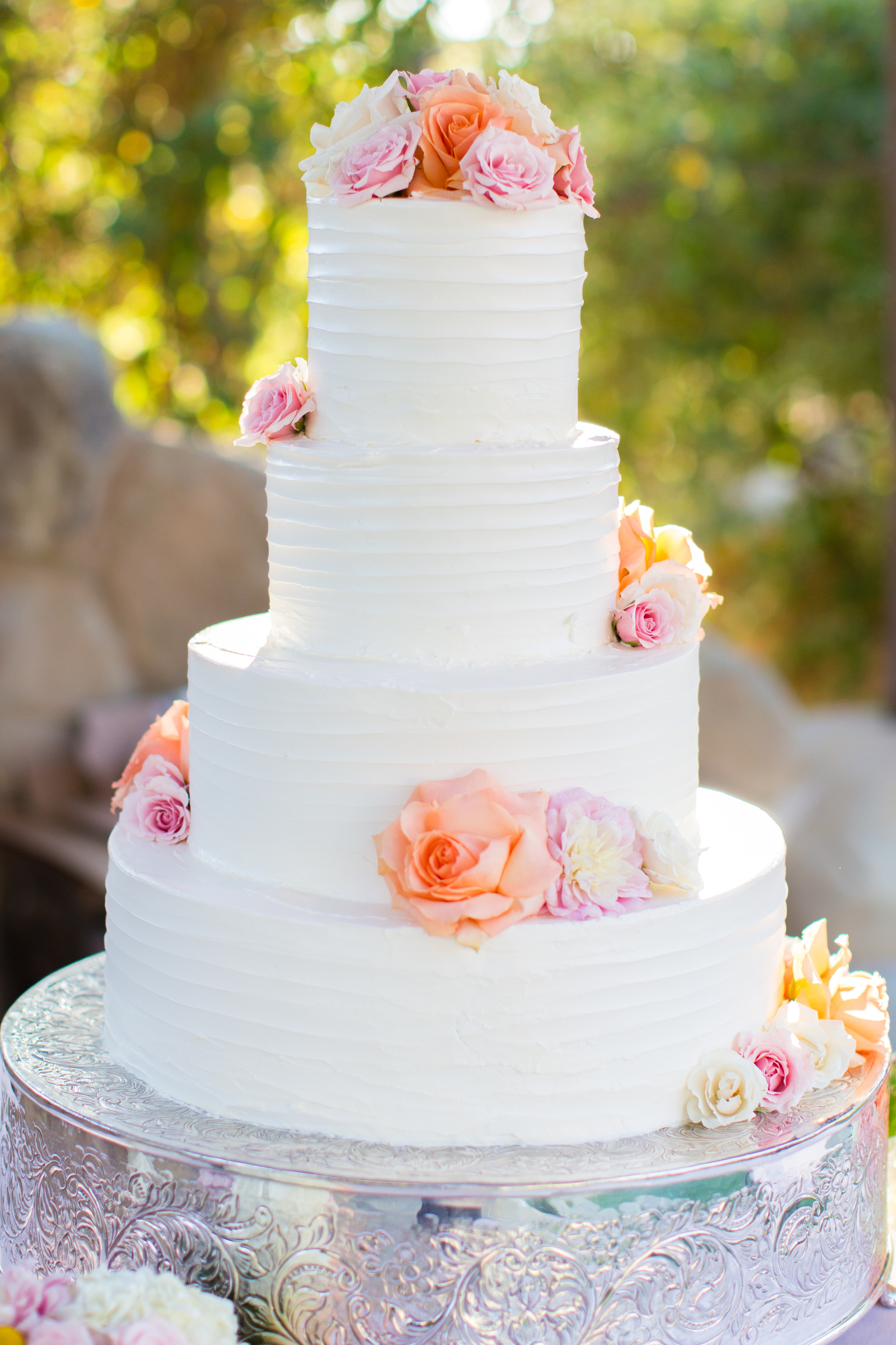 wedding-cake-ventura-ca-pinterest-white-textured-butter-cream-frosting-fresh-flowers