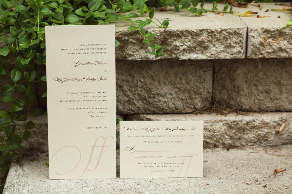 Geri Anne and Jon   Printing Method:  Offset   Paper: Stardream Metallic