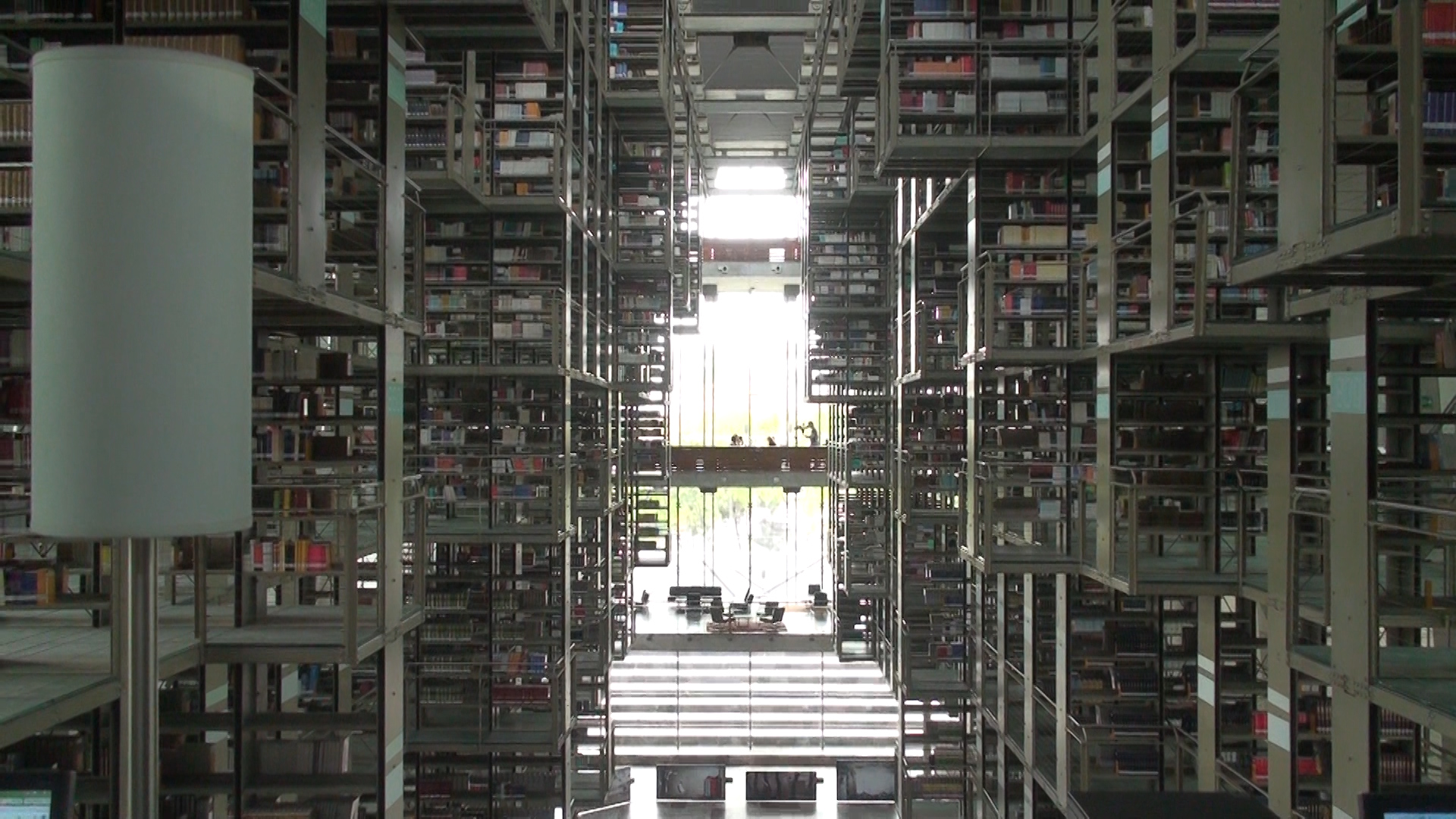 Hey wait a second....who is that speck in the far distance? (Filming inside one of the largest libraries in the world in Mexico CIty)