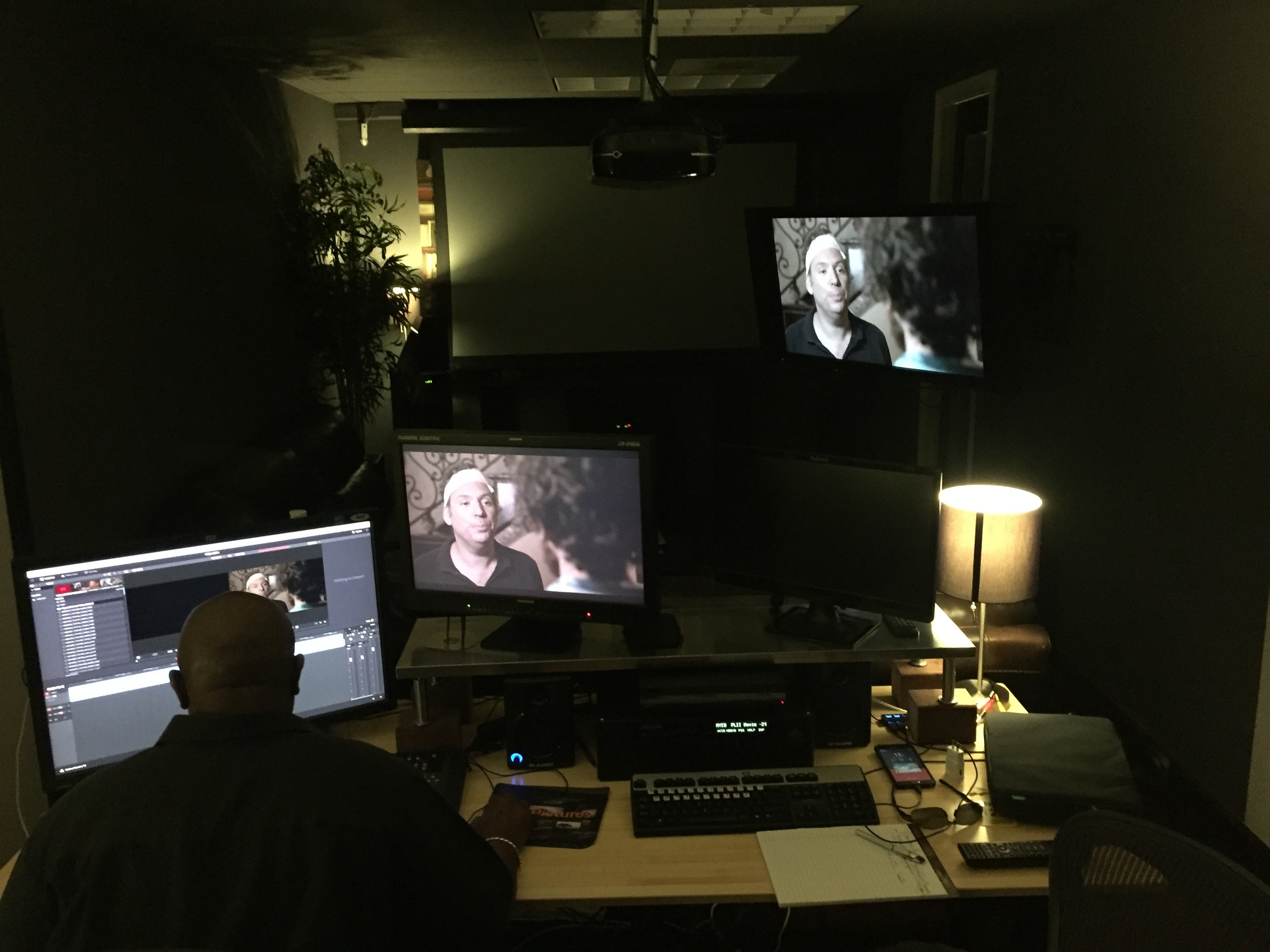 The Color Correction bay at Pace Pictures.