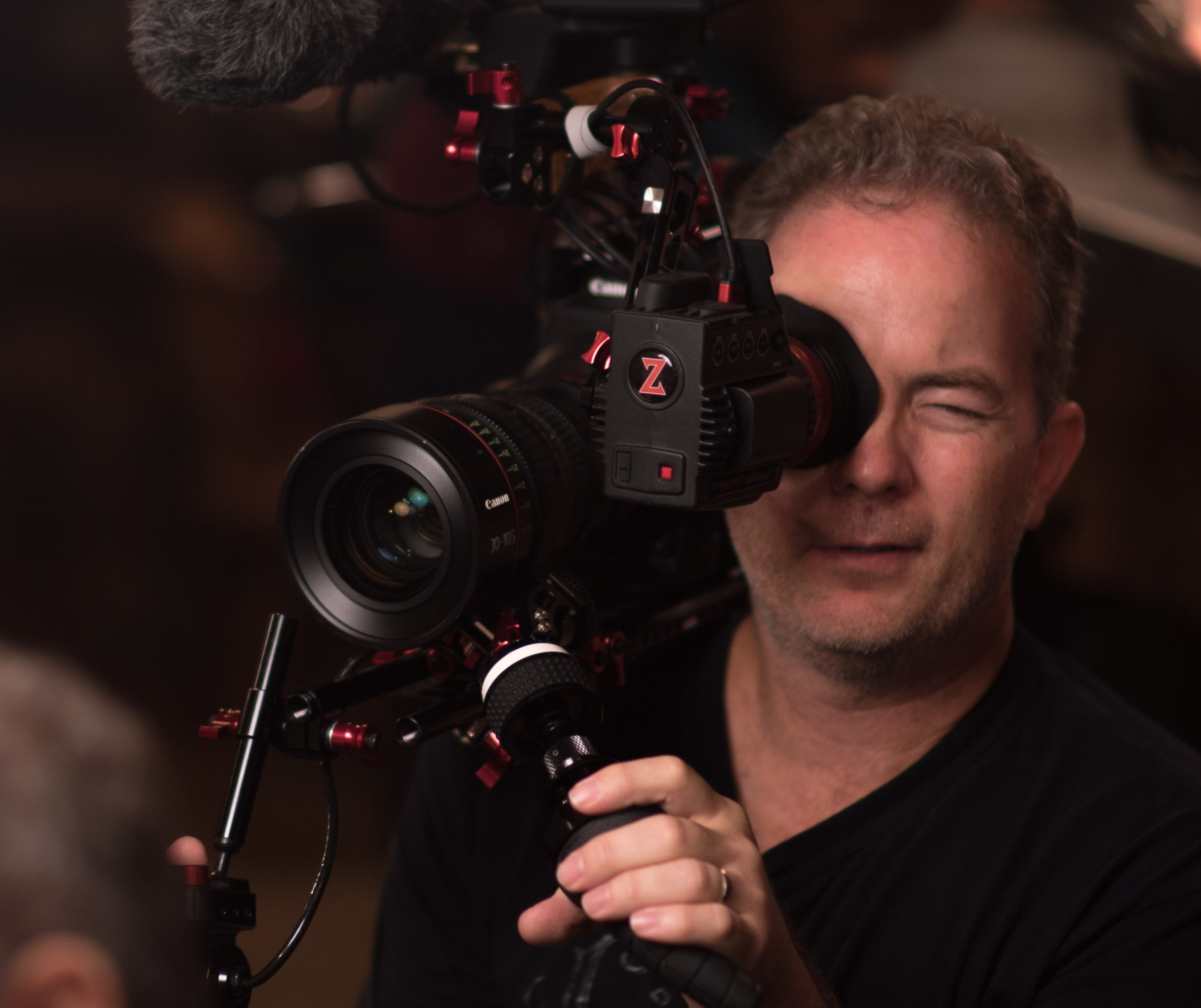 C300 Mark II with modified Zacuto Recoil Rig and Gratical.