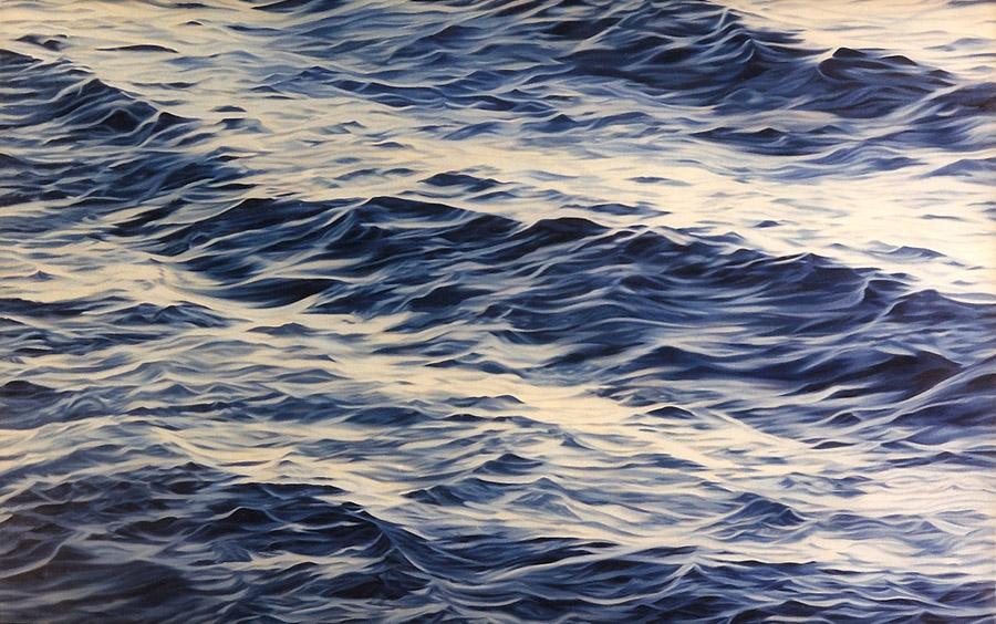 """Six (glass), 1999, oil on linen, 30 x 48"""""""