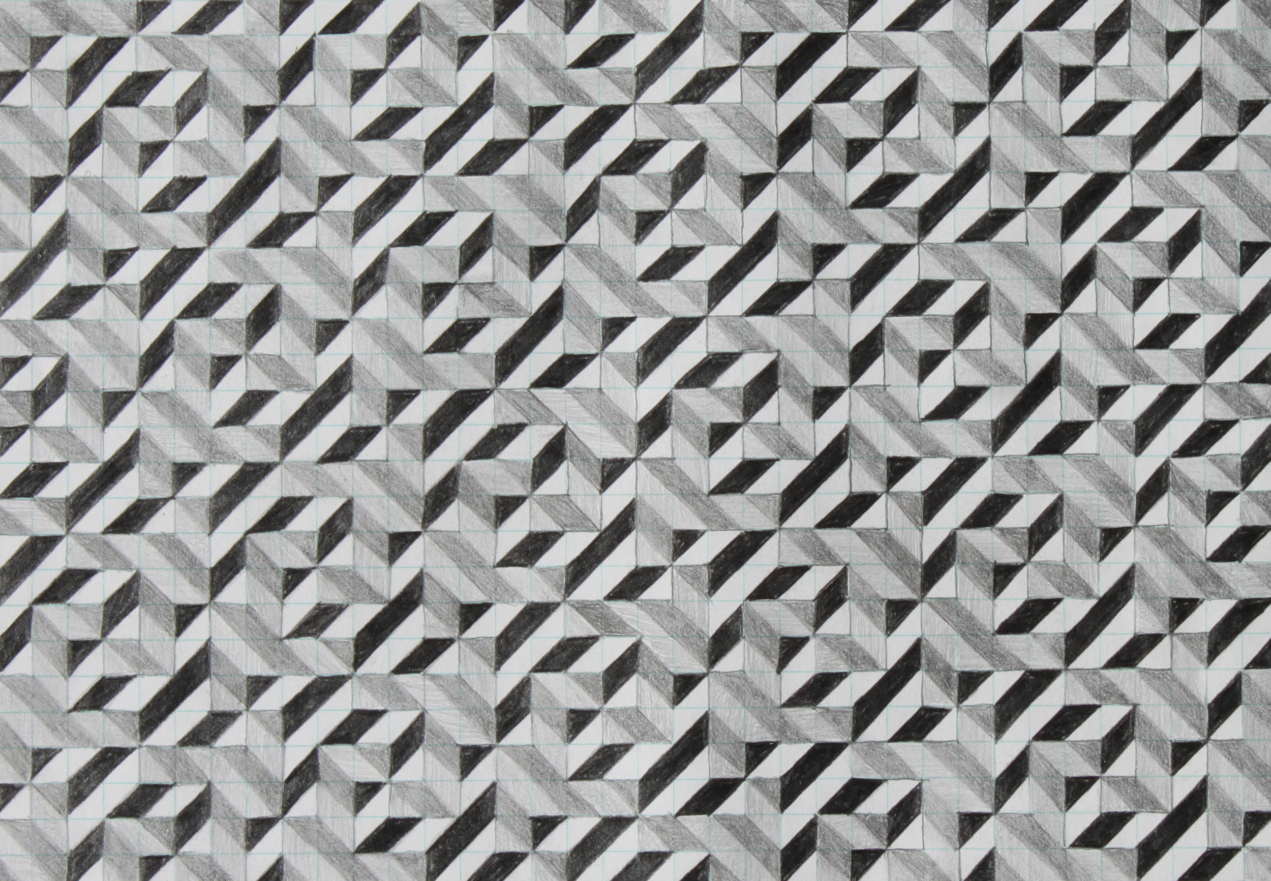 five, 2007, graphite on paper, 6.25 x 9 inches