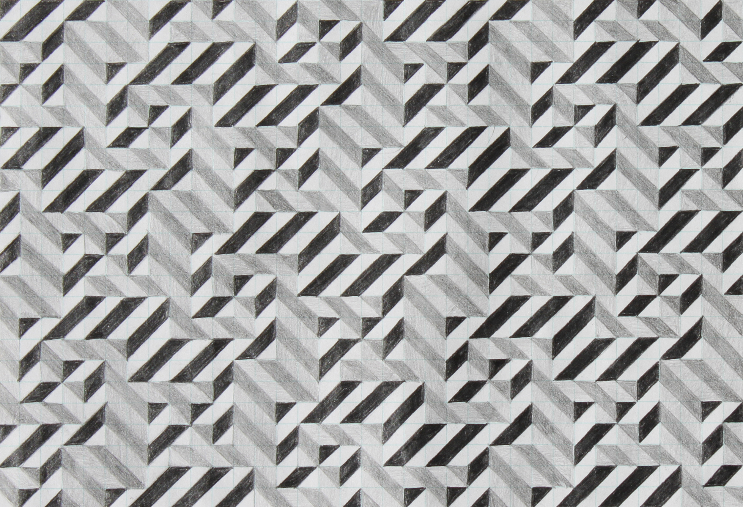 seven, 2007, graphite on paper, 6.25 x 9 inches