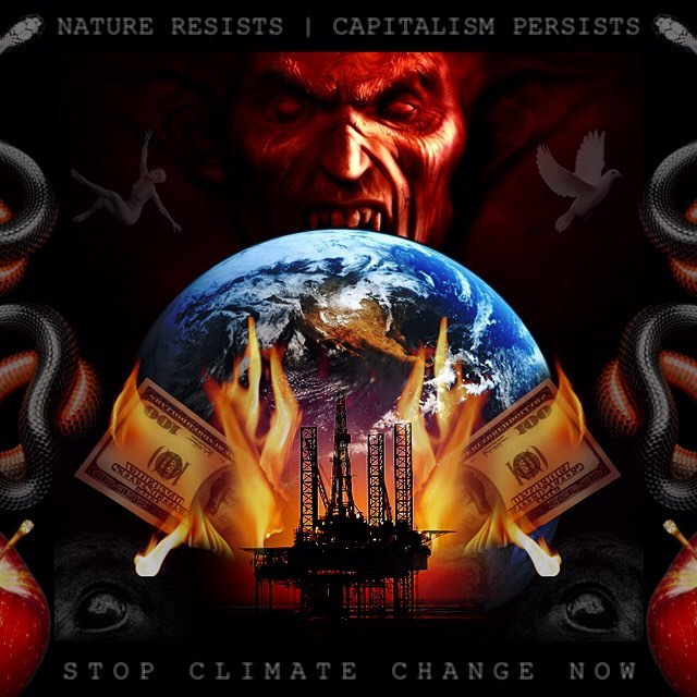 Climate change is real. Be the change you want to see and take care of the planet. #climatechange #globalwarming #environment #savetheplanet #factoryfarming #gogreen #vegan #sustainableliving #money #greed #capitalism #gardenofeden #symbolism #beforetheflood #cowspiracy #leonardodicaprio @leonardodicaprio @cowspiracy