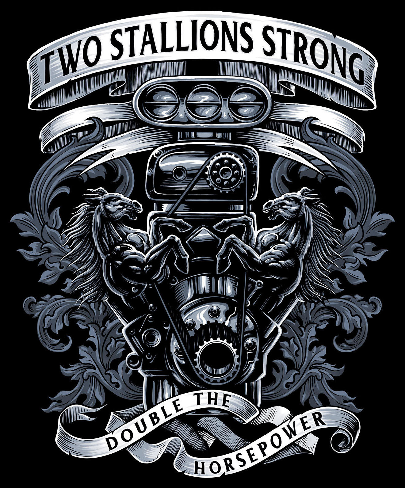 Two Stallions Strong