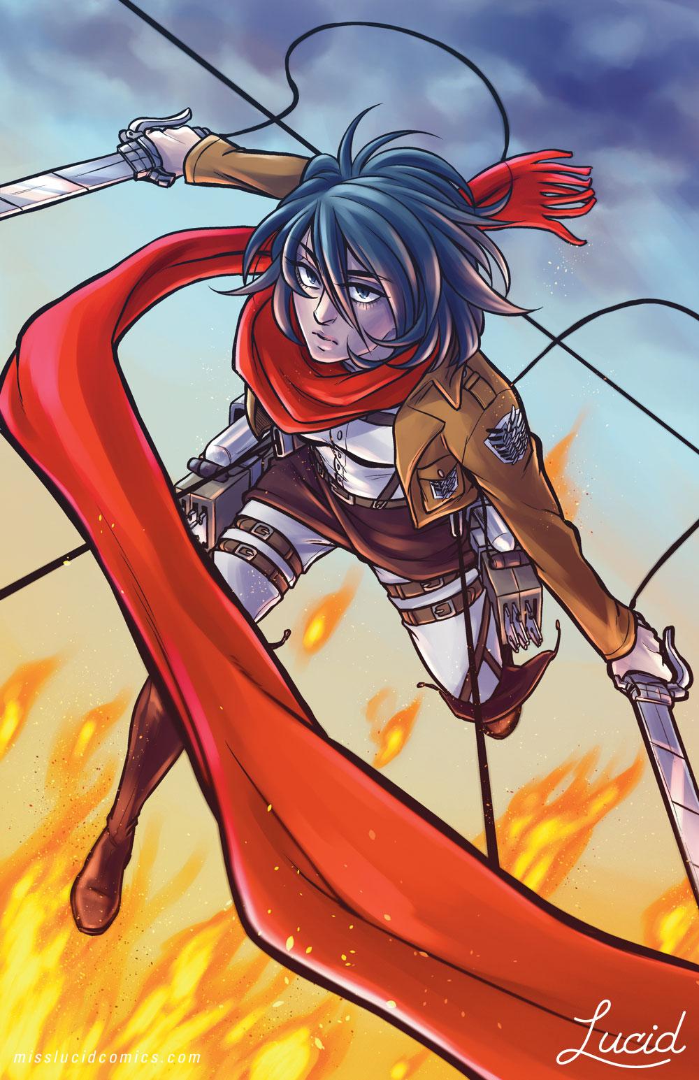 AoT Triptych: Mikasa