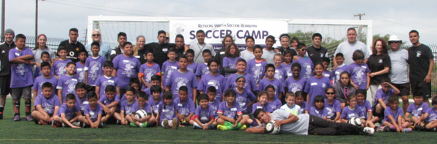 Get ready for the Aztecas Youth Soccer Academy soccer camp July 15-19 and July  22-26  2019!