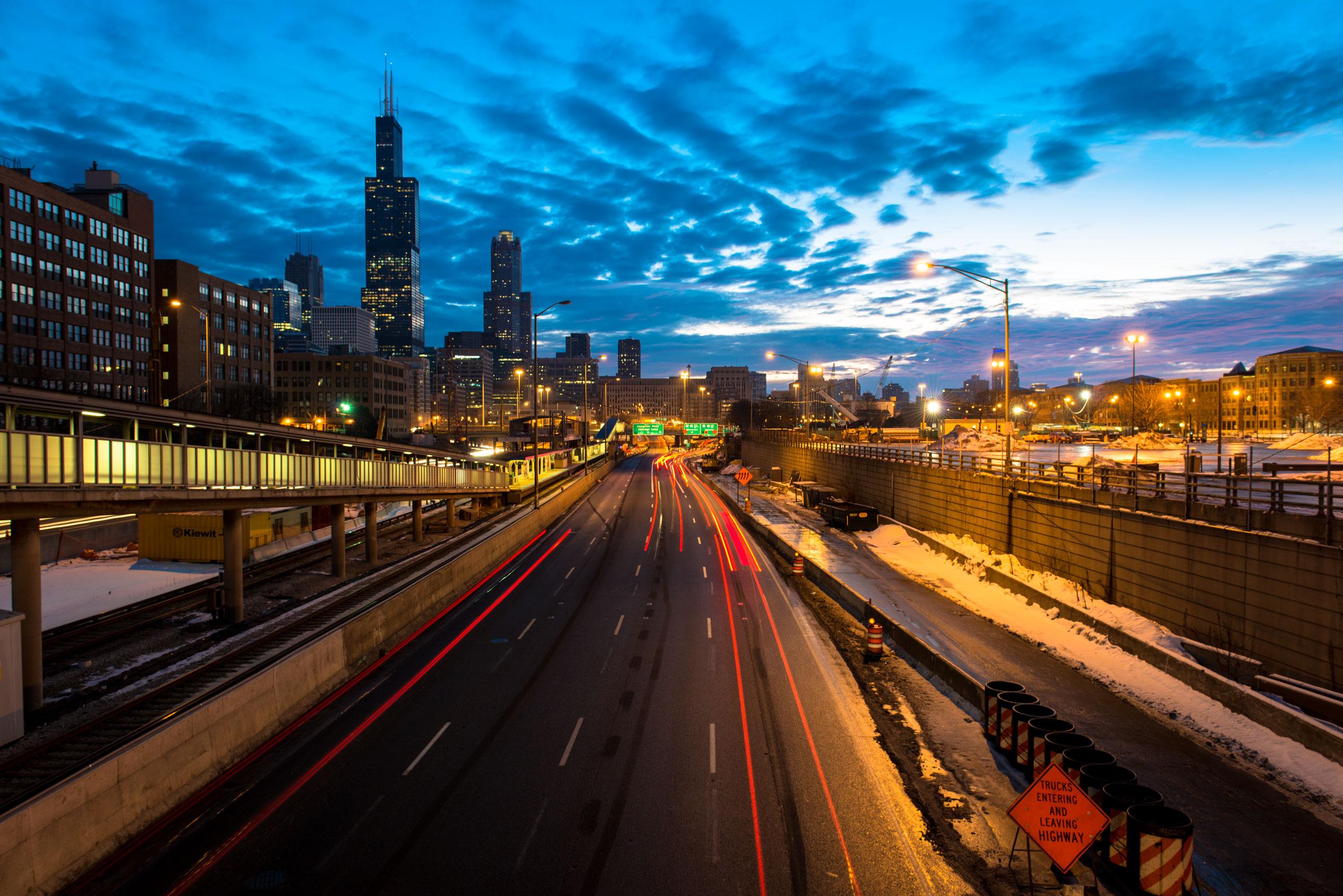 Chicago-Skyline-Highway