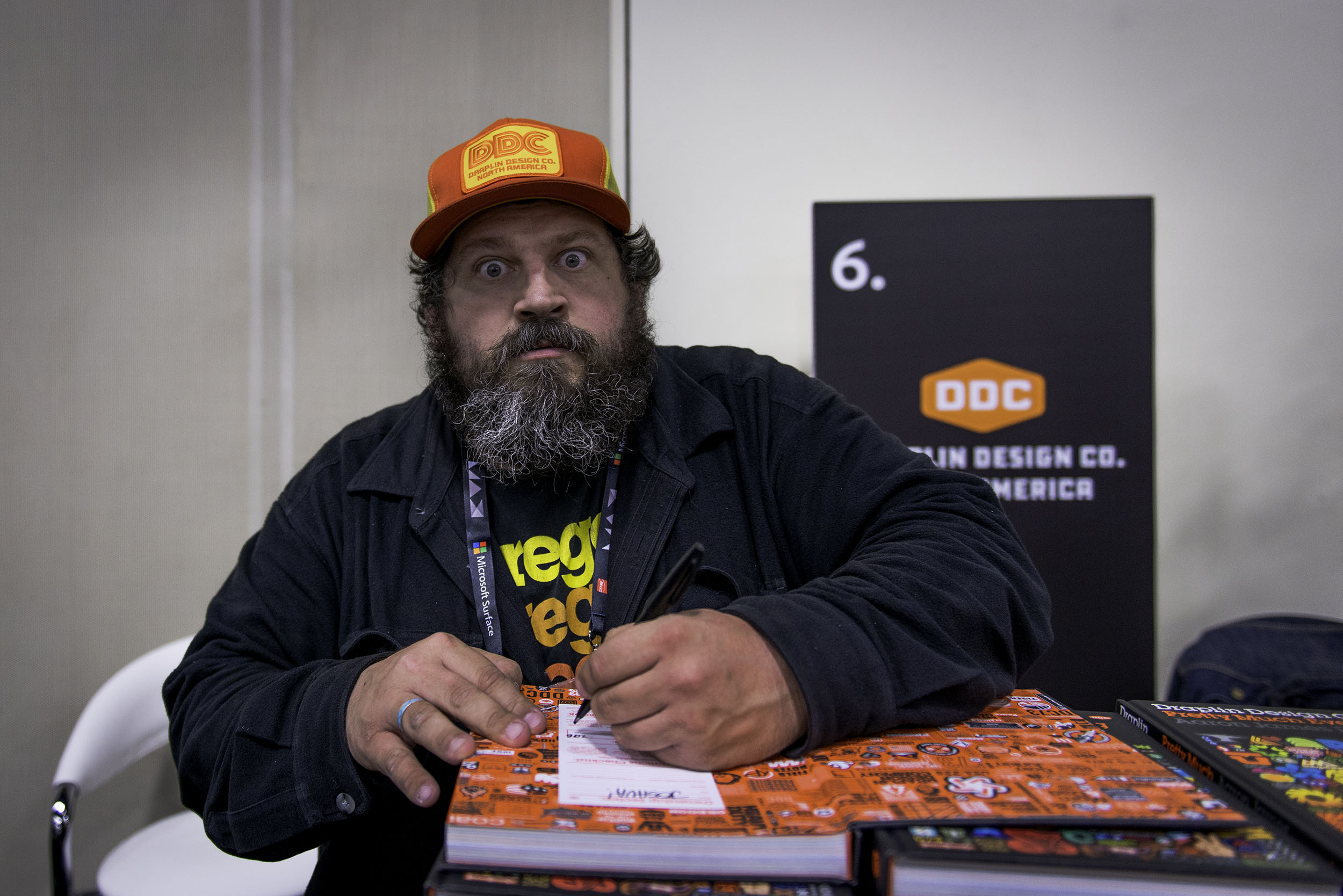 While at AdobeMax this past year, I got a chance to listen to the inspiring  Aaron Draplin  speak on everything design related as well as his background story. Aaron is one of the few dudes in the industry that I really look up to. From his literal hands-on design approach, his dedication, to his independent nature, he tackles every part of the design aspect on his own. After getting the chance to speak with him, I was a fan even more. His down to Earth attitude and warm hearted charisma made it super pleasant to just have an easy going conversation. I used to think that maybe I was trying to do too much at once. But Aaron has inspired to stay ambitious and continue to persevere. Getting to meet him was truly a humbling experience and I hope one day I get the pleasure to collaborate with him.