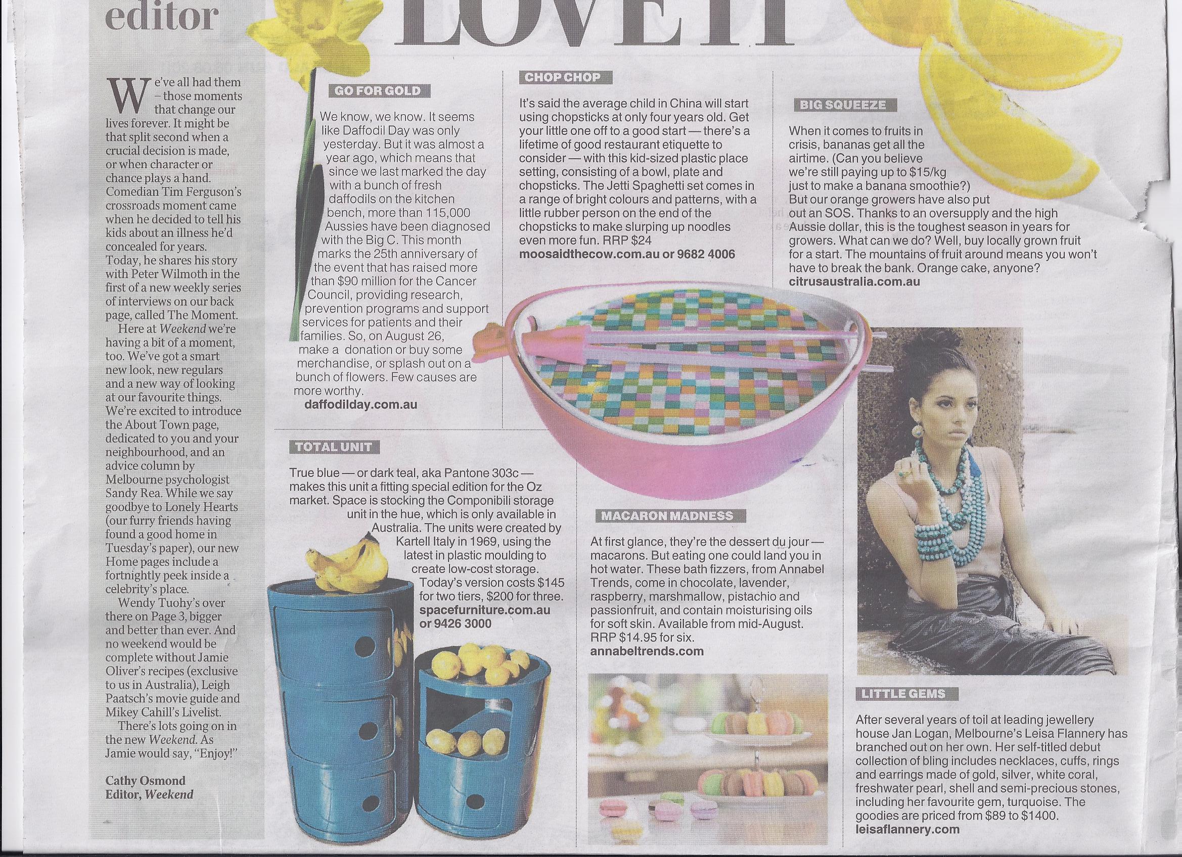 Herald Sun Love it 6th Aug 11.jpg