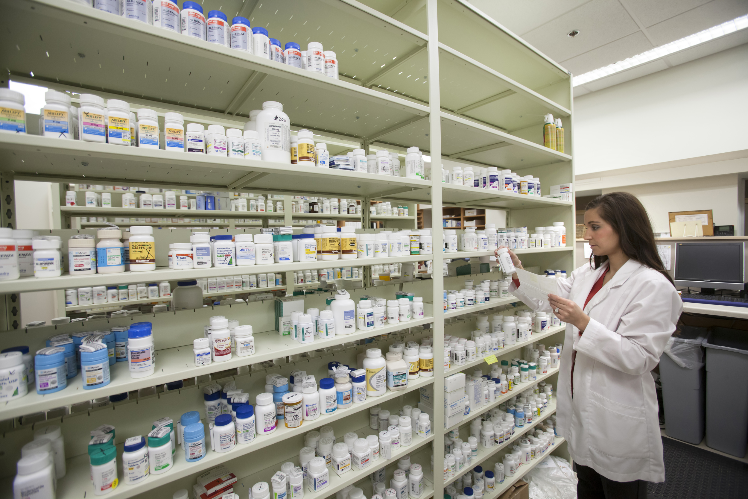 Qualified Pharmacist Checking Aged Care Medication