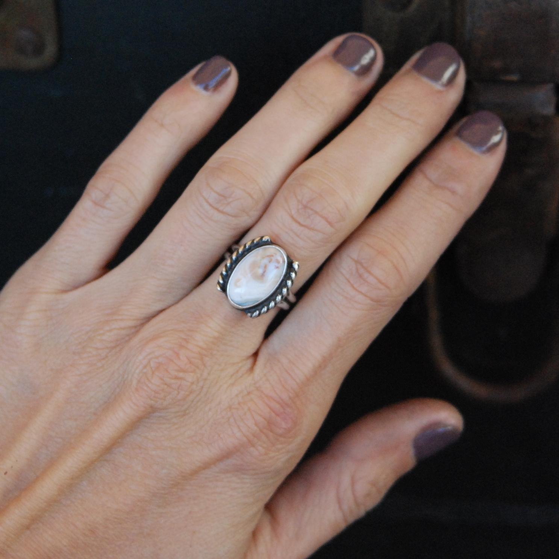 925 silver ocean jasper ring-natural jasper ring-natural ocean jasper ring-ocean jasper ring