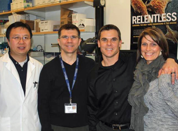 Pictured above are (L to R)Guangheng Li and Dr. Charles Keller withChris and Kim Jostad.