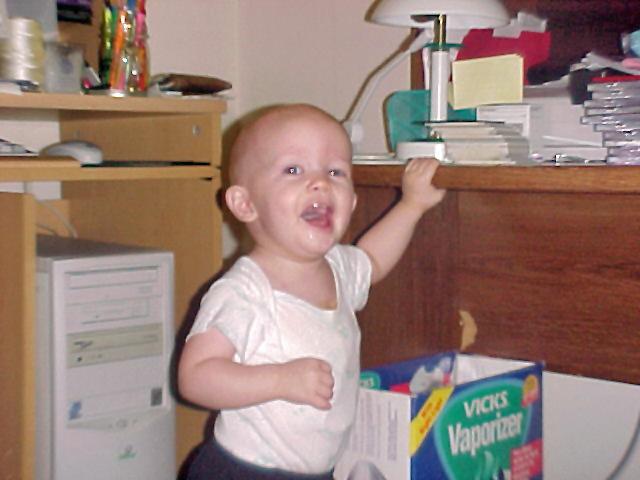 Wilson working on his walking - October 2001