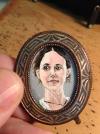 1 inch high portrait miniature