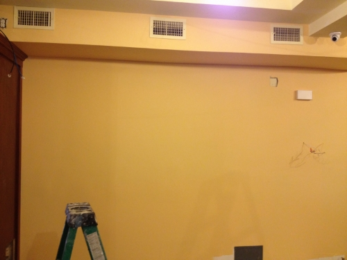 Back wall before faux painting