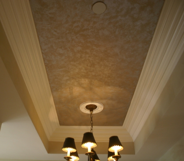 Hall ceiling after