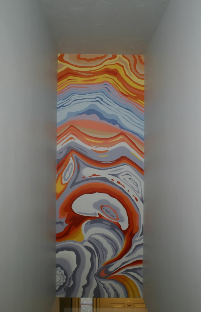 Agate pattern statement wall