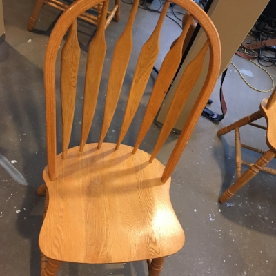 Chairs before painting
