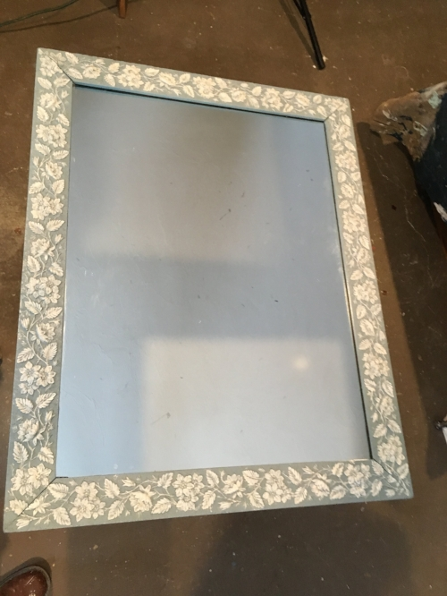 The mirror after painting